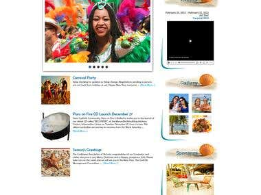 Caribbean Homepage Design