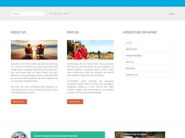 African Safari (Joomla development)
