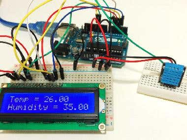 Arduino Temprature and Humidity countroler.