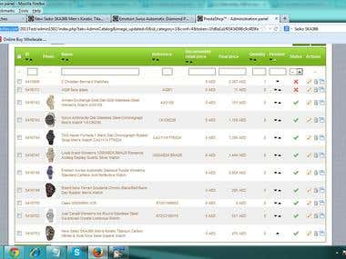 Prestashop Data entry - http://www.kanaryluxurywatches.com