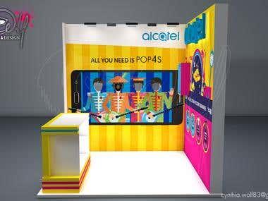 Stand publicitario Alcatel / Trade show booth Alcatel