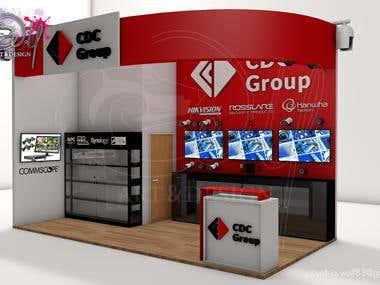 Stand publicitario CDC/ Trade show booth CDC