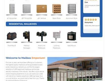 Mailbox Woocommerce Site