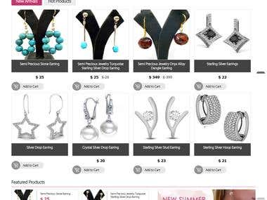 E-com Website selling jewelry online