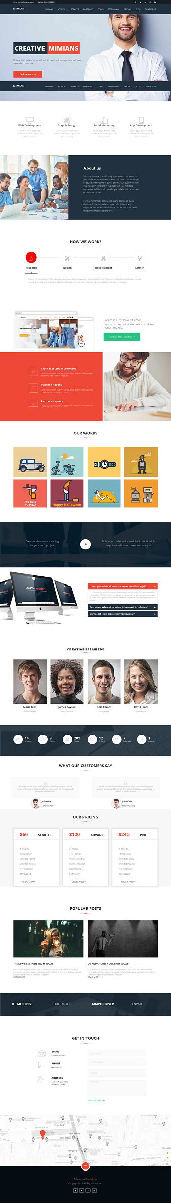 Mimian Multipurpose web template