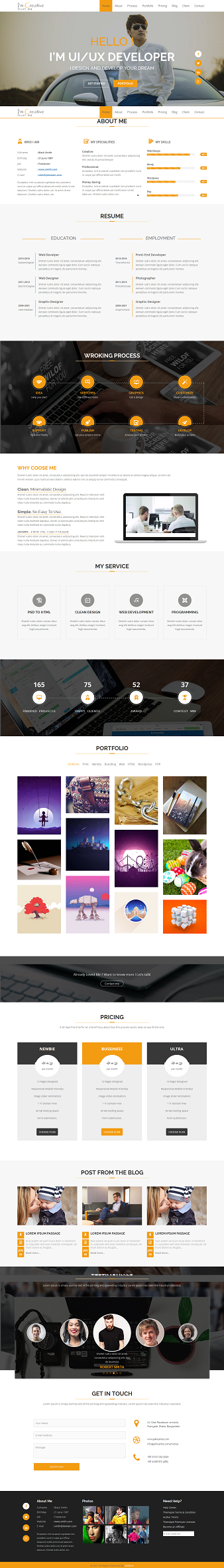 Creative Multipurpose web template