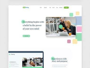 Landing Page Design for User Testing