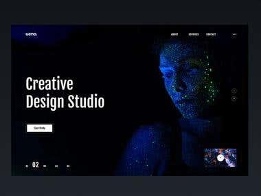 landing page design for Design agency