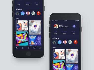 iOS Apps Design (user profile)
