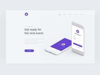 Barnes Landing Page concept (UI & Mobile)