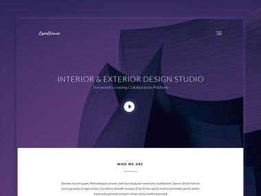 """"""" Excellence"""" Landing page design"""