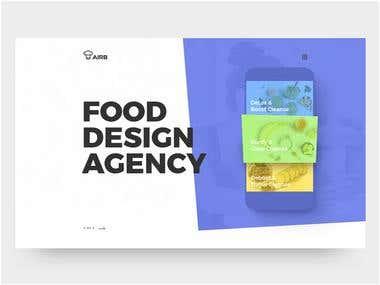 Landing Page design for Food Design Agency