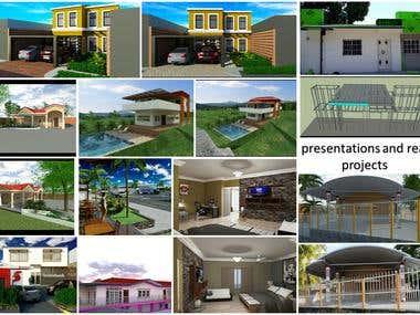 Various presentations and renderings