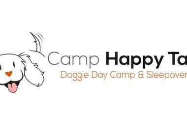 Logo design for Camp Happy Tails