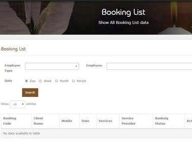 Booking System