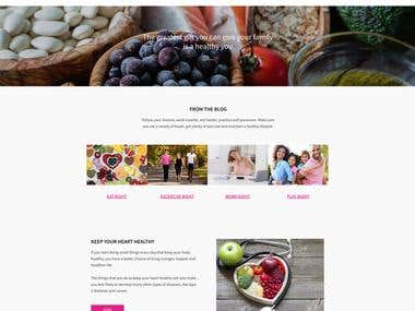Helathy living website using WordPress