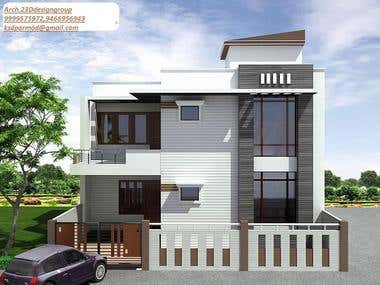 3D DUPLEX HOME WITH INTERIOR DECORATION 180SQ.YDS AREA