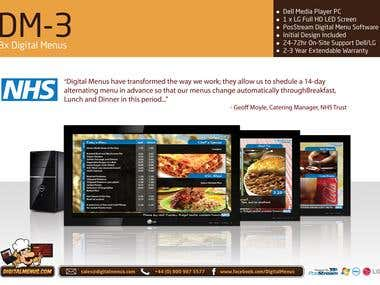digital menus brochure page example.