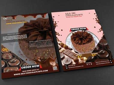 chocolate company flyer