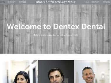 Dental office website and blog