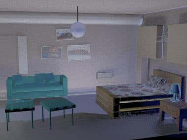 3D furniture/rooms