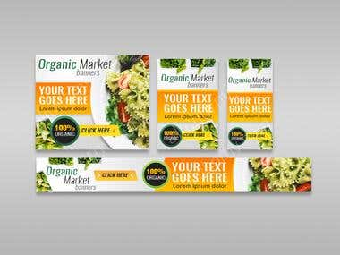 Organic Market web banners