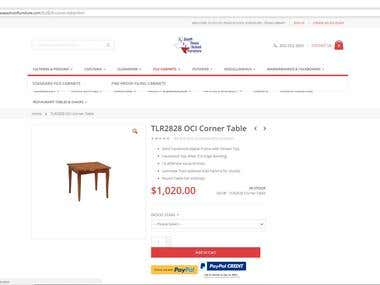 Magento 2.0 Product Data Entry For Furniture Store