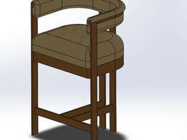Shop Drawing for Bar Stool