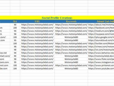 Social Profile Backlinks
