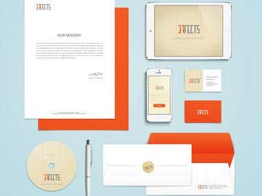 Corporate Identities and Stationery Package Designs