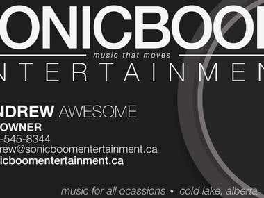 Sonicboom Entertainment - Business card Design