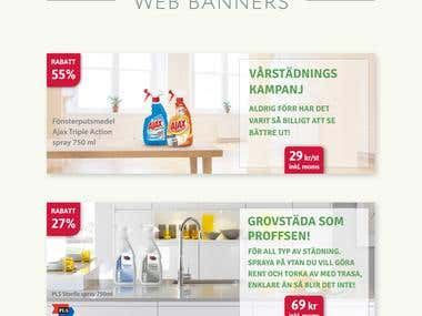 Banners for swedish online shop
