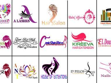 I Will Create Logo For Beauty Hair Salon