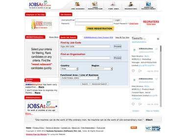 JOBSAtAnytime - Java Servlet / Struts Application