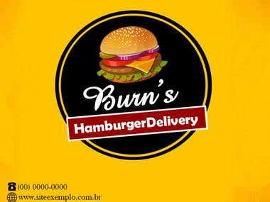 Logomarca para Hamburgeria Delivery.