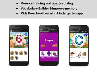 Toddler preschool Learning App
