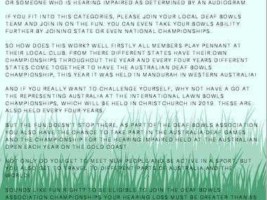 Flyer: Deaf Bowls Association