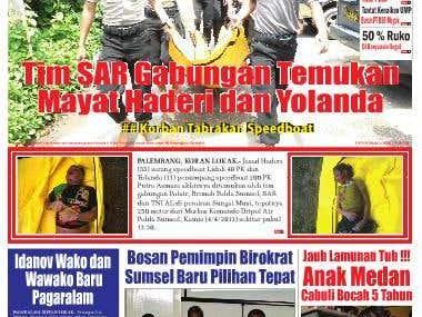 Layout Koran Lokak Palembang