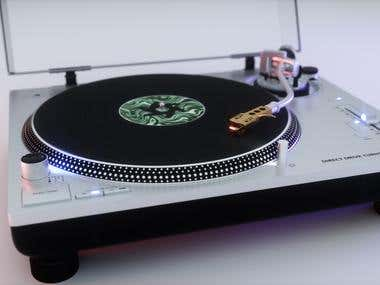 3D Modelling/Texturing/Rendering (Technics Turntable)