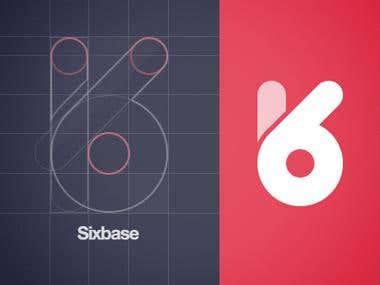 Sixbase logo done using an unique technique for a client