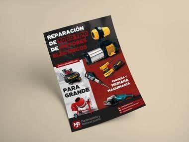 Cartel DIN A4 promocional de servicio
