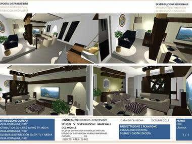 Living tvroom in Romagna - Sala de tv en la Romagna