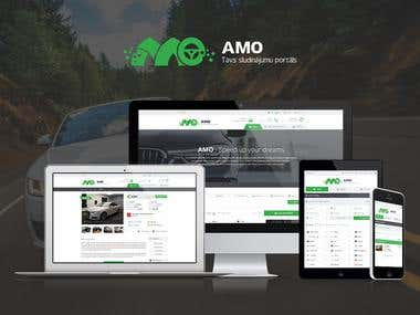 Responsive car listings website
