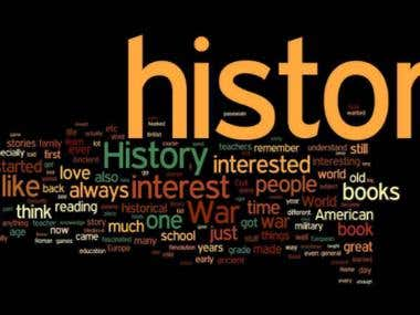 Internet Research, web search including historical research