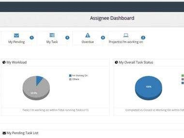 Project Assignee dashboard