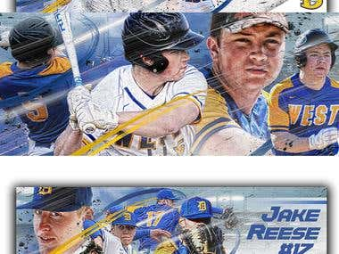 Baseball Posters for Downingtown West Baseball Club