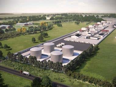 Industrial complex rendering
