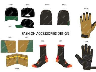Fashion Accesories Vector Template Design