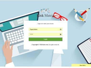 Risk Marix Responsive App