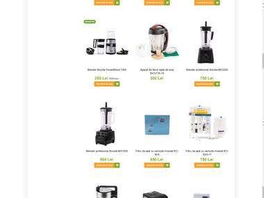 Prestashop eCommerce website - biovita.ro